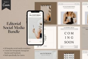 Download Editorial Canva Social Media Bundle