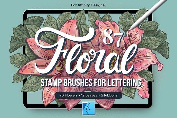 Download 87 Floral Affinity Stamp Brushes