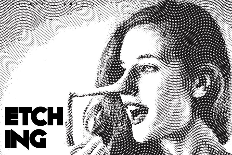 Download Etching Photoshop Action