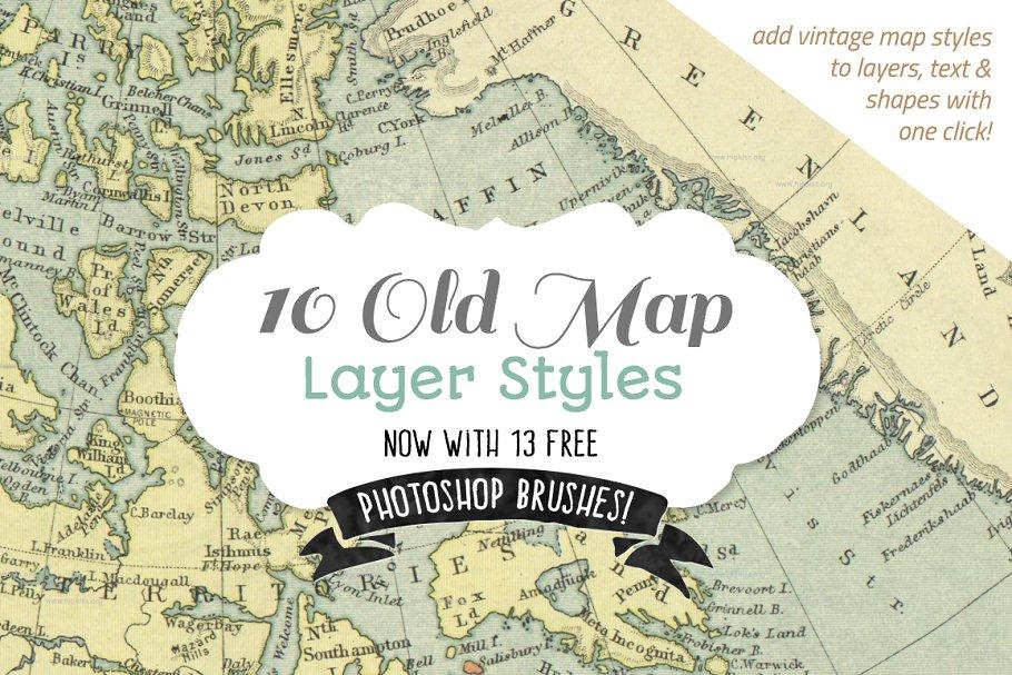Download Vintage Map Styles + bonus brushes