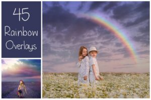Download 45 Rainbow PS Overlays