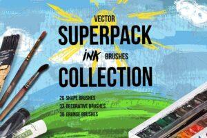 Download Superpack: 91 ink brushes.
