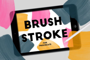Download BRUSH STROKE STAMPS FOR PROCREATE