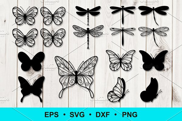 Download Butterfly and Dragonfly Clip Art