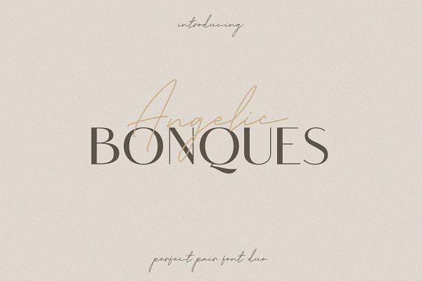Download Angelic Bonques - Font Duo