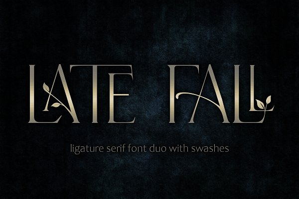 Download Late Fall -floral ligature serif duo