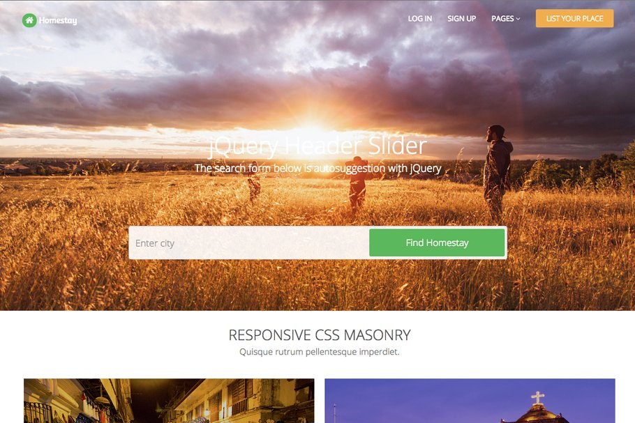 Download Homestay - Responsive Template