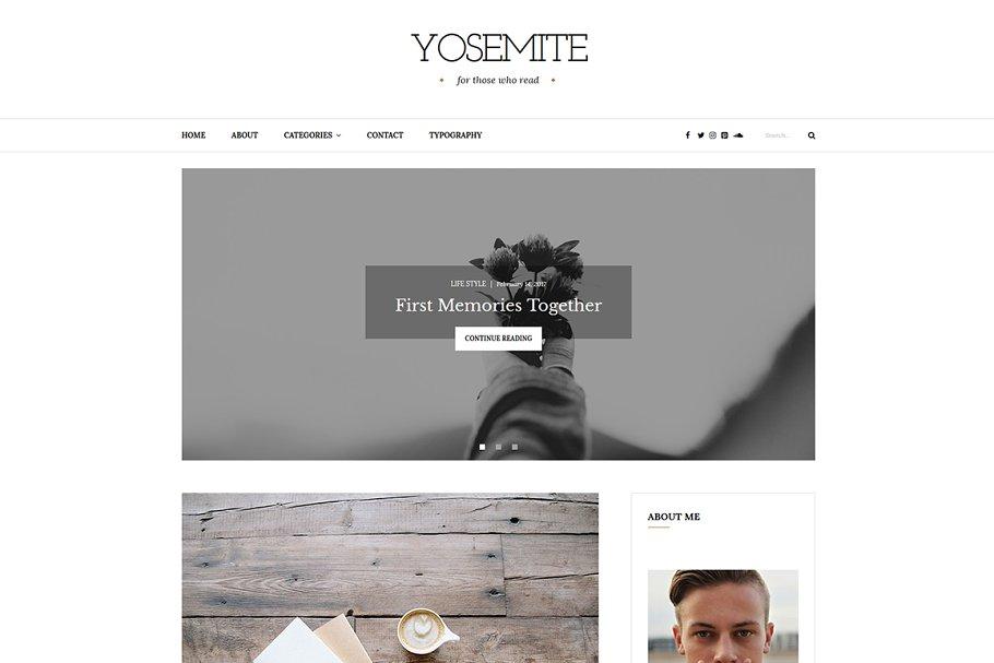 Download Yosemite - A WordPress Blog Theme