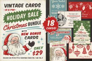 Download VINTAGE CHRISTMAS CARDS BUNDLE