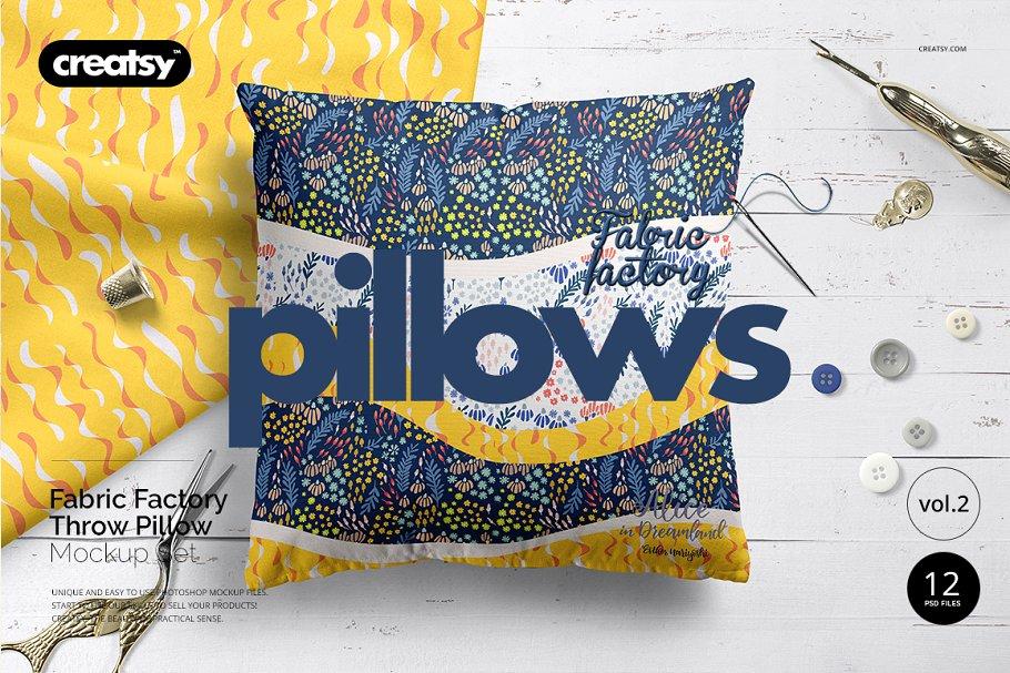 Download Fabric Factory vol.2: Pillow Mockup