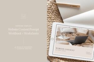 Download Website Content Indesign Template