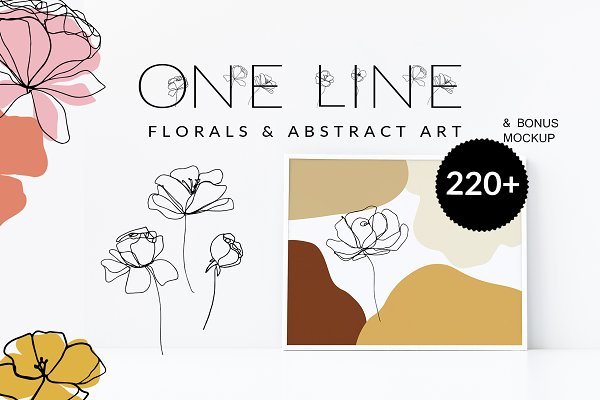 Download One Line Floral Drawings - Abstract