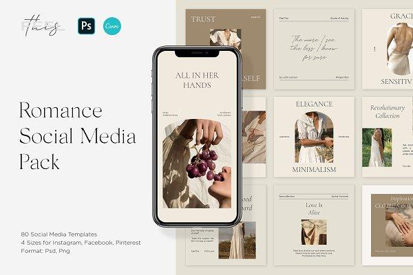Download Romance Social Media Pack Canva & PS