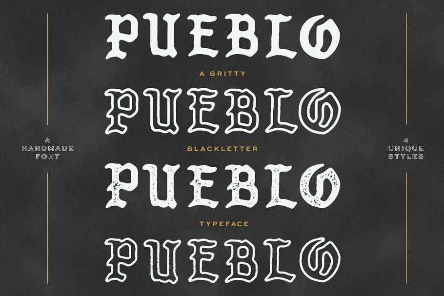 Download Pueblo Blackletter - 4 Styles