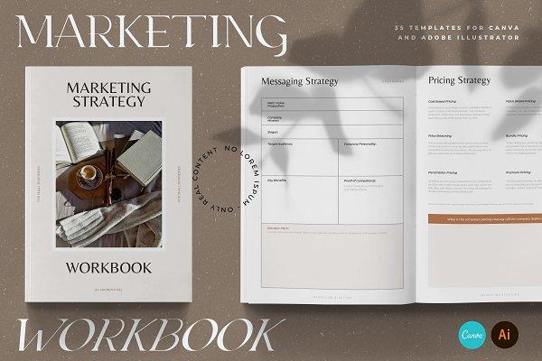 Download Marketing Strategy Workbook CANVA