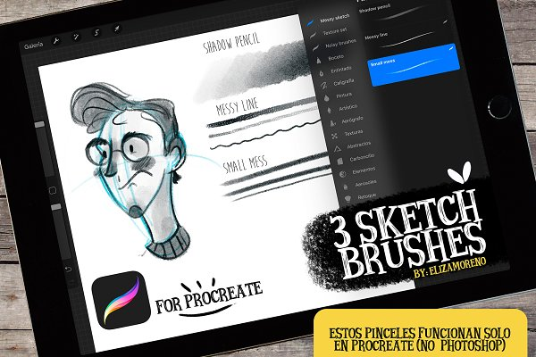 Download Sketch brushes for PROCREATE