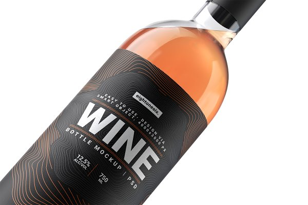 Download Wine Bottle Mock-Up Template