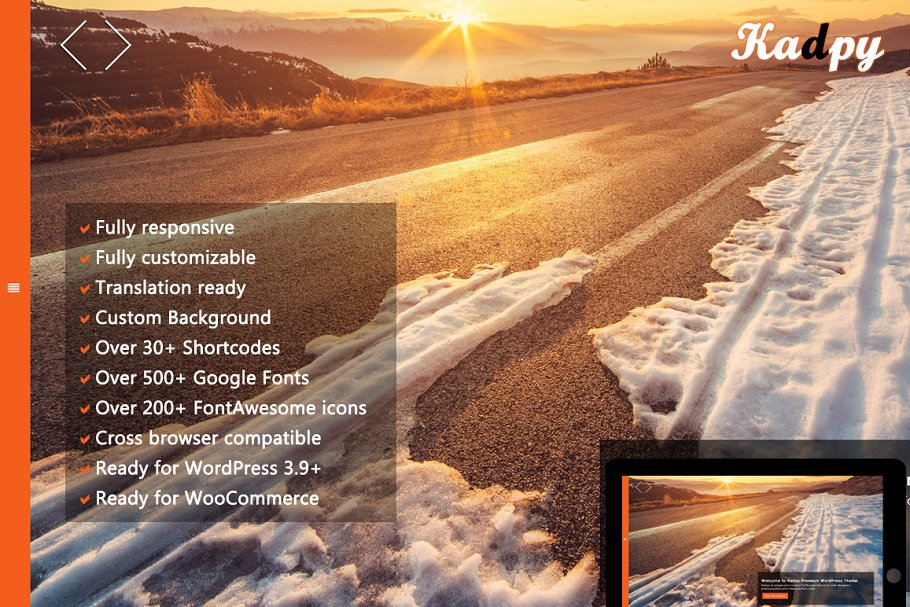 Download Kadpy - FullScreen WordPress Theme