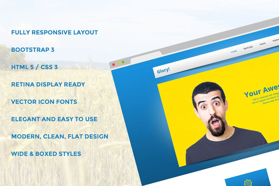 Download Glory Bootstrap Responsive Template