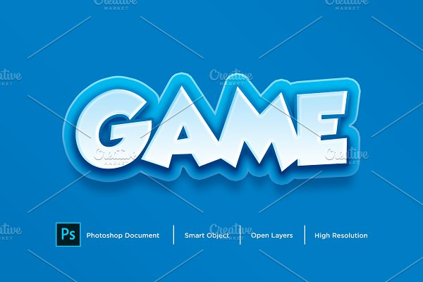 Download Game Text Effect & Layer Style