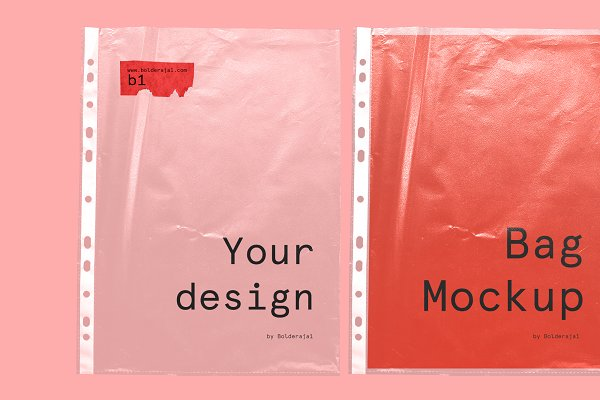 Download 8 Plastic Bag .PNG Mockups