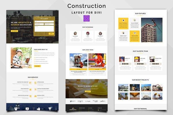 Download Construction Divi Theme Layout
