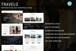 Download Travelo - One Page WordPress Theme