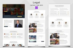 Download Legal - Law Firm Divi Layout