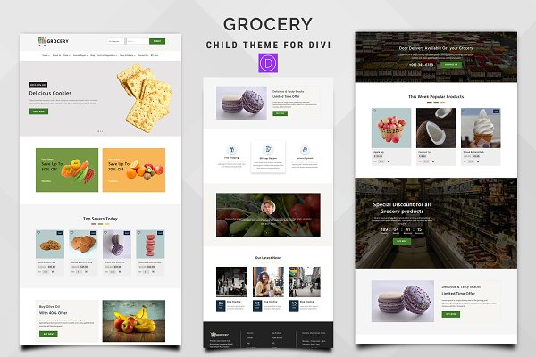 Download Grocery WooCommerce Divi Child Theme