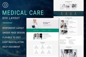 Download Medical Care - Divi Theme Layout