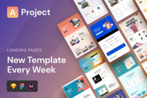 Download AProject | Responsive Landing Pages