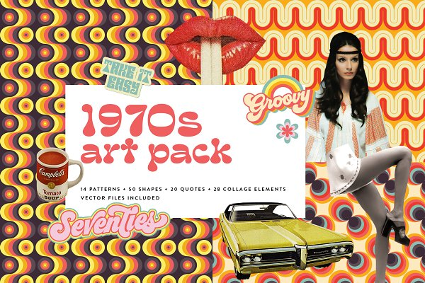 Download 1970s Collage Art Pack