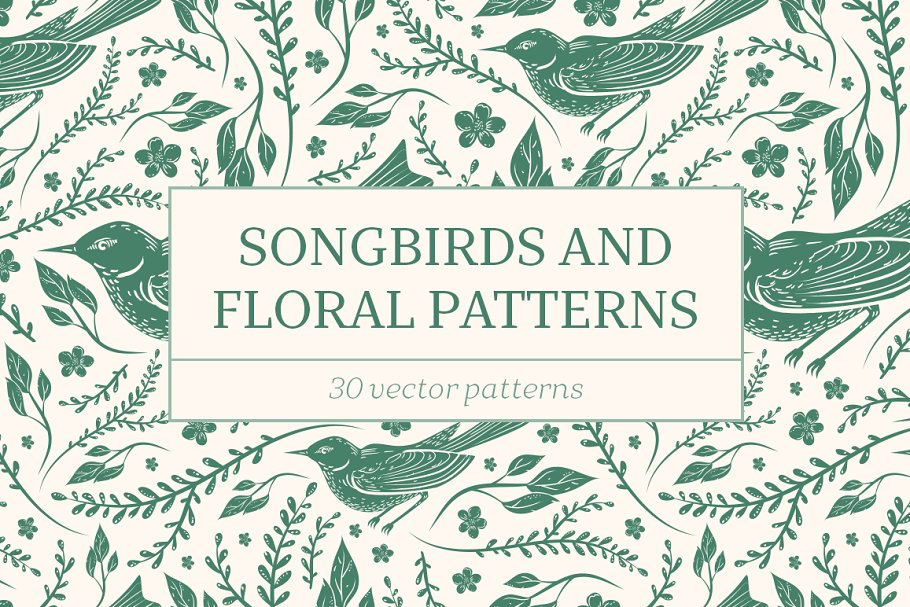 Download Songbirds and Floral patterns