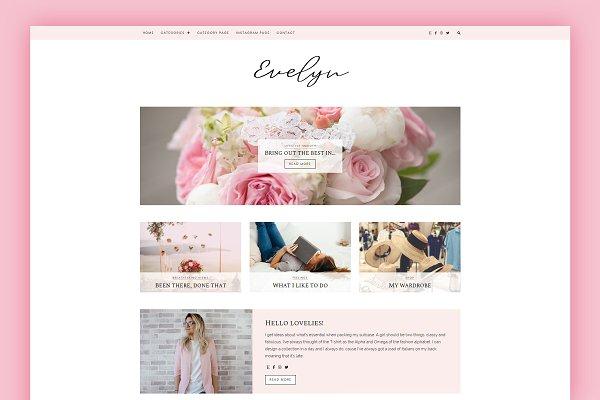Download WordPress Blog Theme - Evelyn