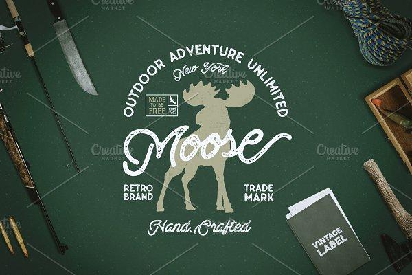 Download Moose Vintage Label