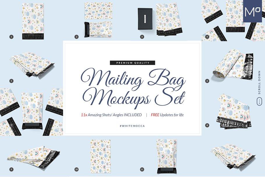 Download 11x Mailing/ Shipping Box Mock-ups