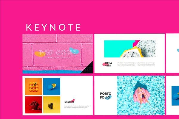 Download Pop Cone - Full Color Keynote