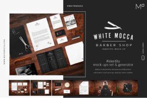 Download Barber Shop Identity Mock-ups Set