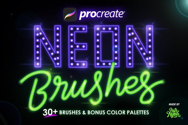 Download 30+ Procreate Neon Brushes
