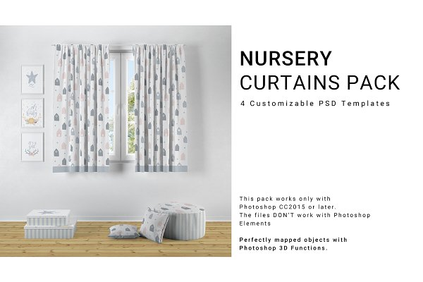Download Nursery Long and Short Curtains Pack