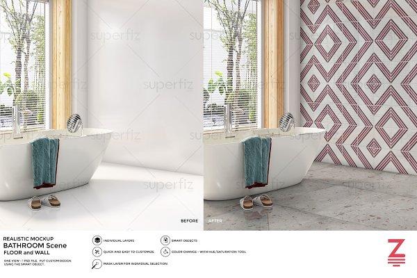 Download Floor&Wall Mockup Bathroom Scene SM9