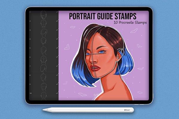 Download Portrait Guide Procreate Stamps