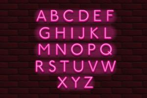 Download Neon Banner alphabet font bricks