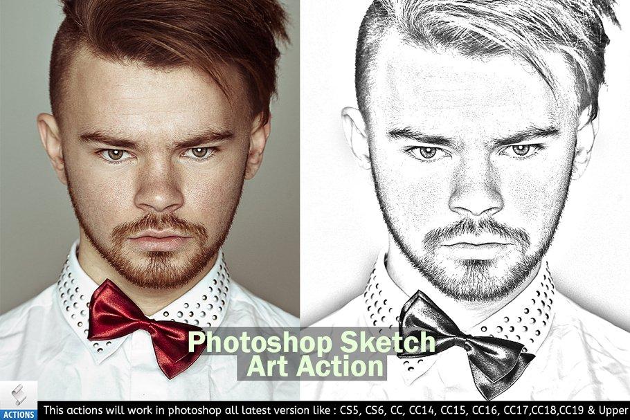 Download Photoshop Sketch Art Action
