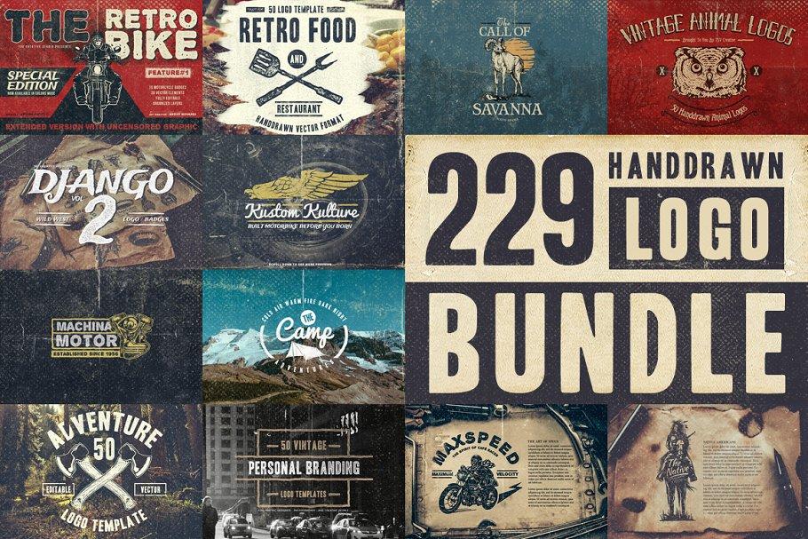 Download 229 Handdrawn Logo Bundle