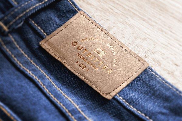 Download Logo Mockup Label Jeans - 5 Styles