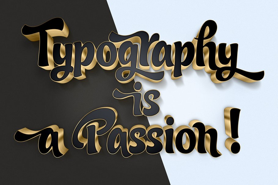 Download 3D Gold Text Effects