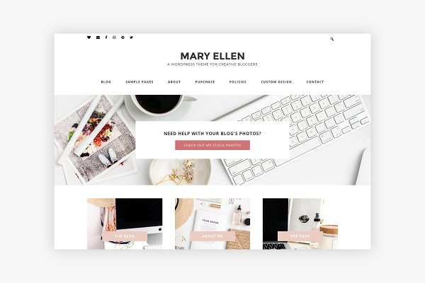 Download Mary Ellen - A Theme for Creatives