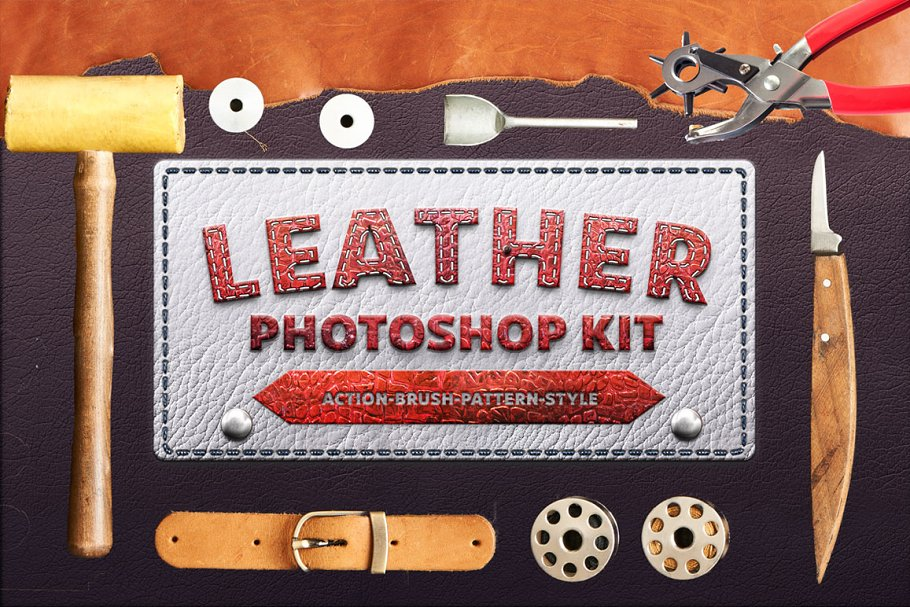 Download Photoshop Leather Kit