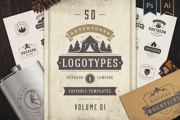Download 50 Outdoor logos and badges